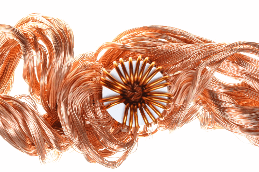 Toroidal Transformer Core With Copper Wires